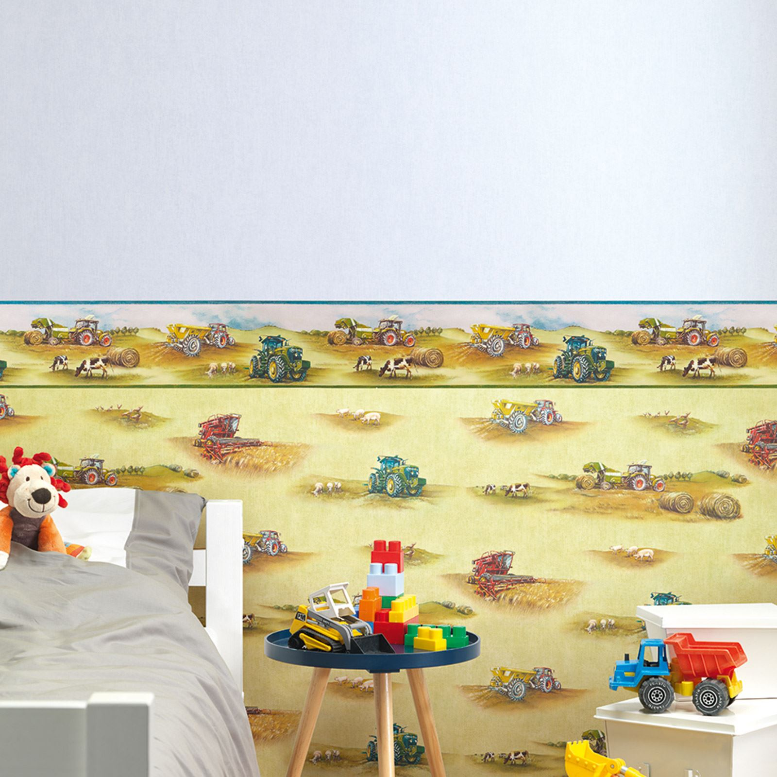 TRANSPORT AND VEHICLES THEMED WALLPAPER & BORDERS BEDROOM FEATURE ...