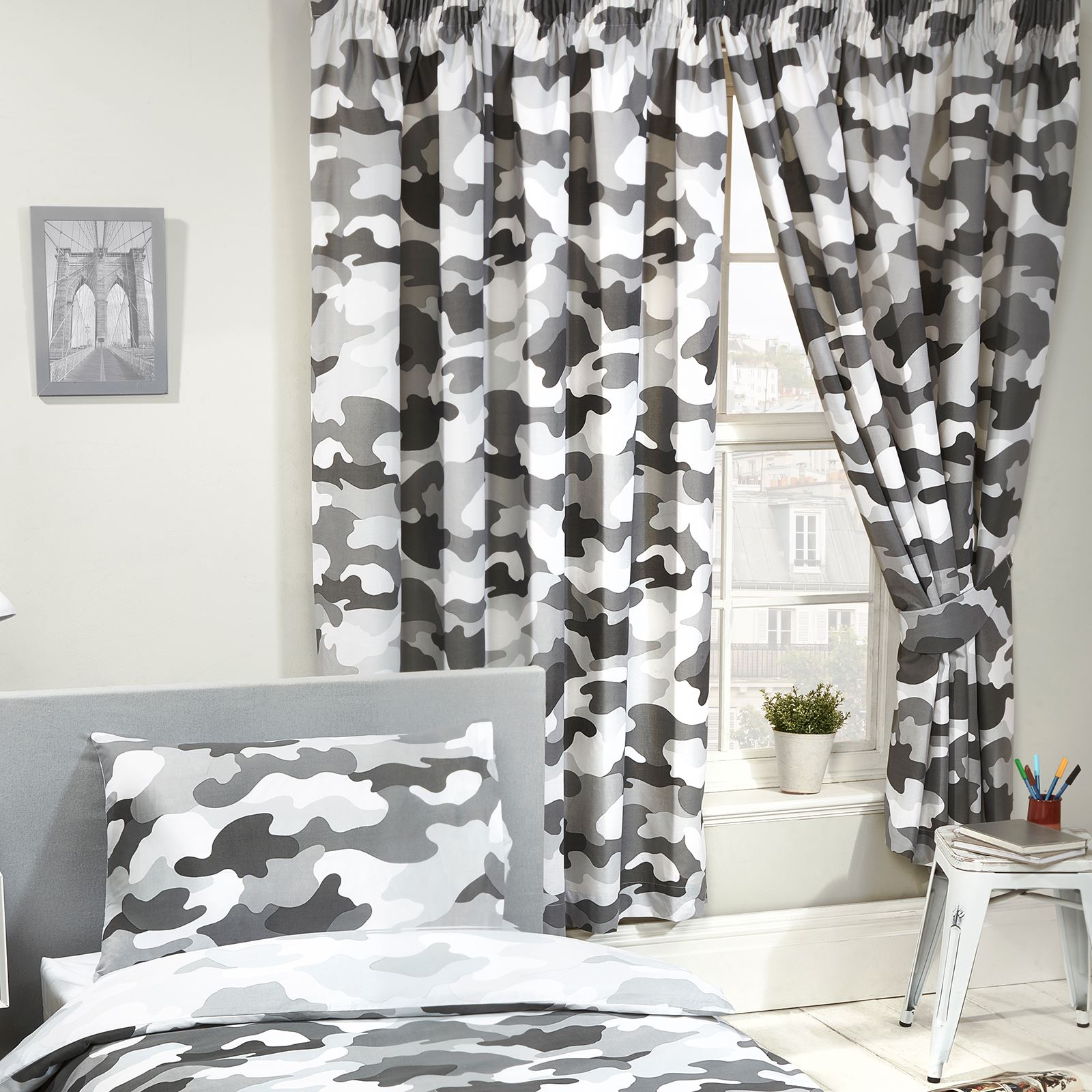 Boys Kids Bedroom Curtains 54 72 Army Football Camouflage Dinosaurs More Ebay