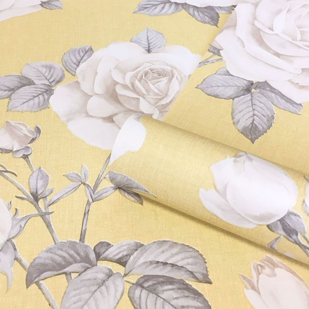 Rosa Floral Wallpaper Roses Mustard Yellow 9765 Belgravia Decor Ebay