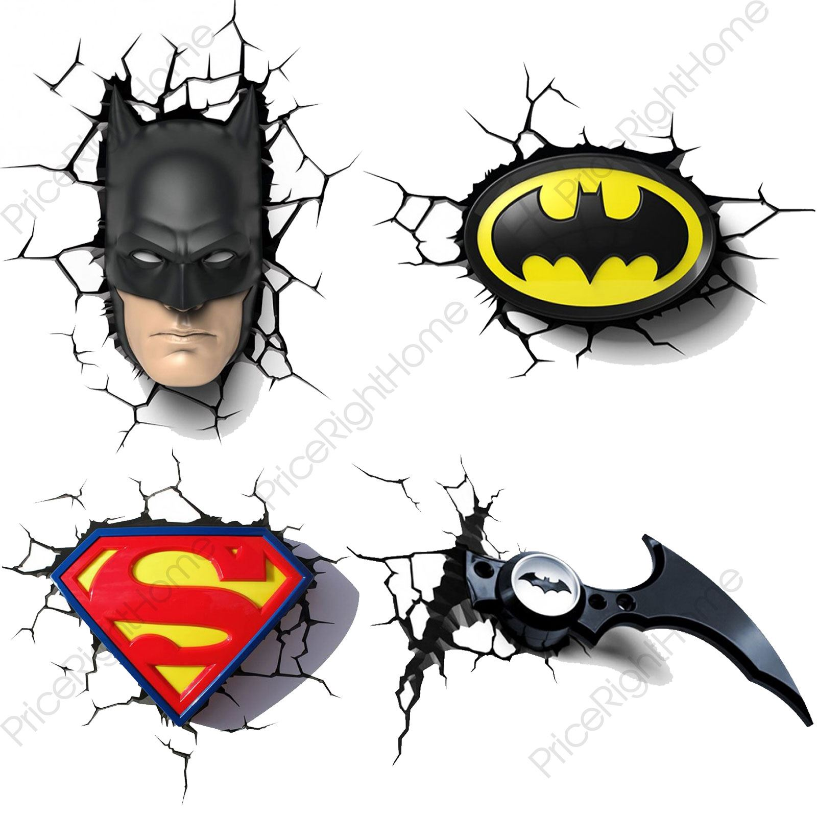 Dc Comics Batman Amp Superman 3d Wall Lights Nightlight