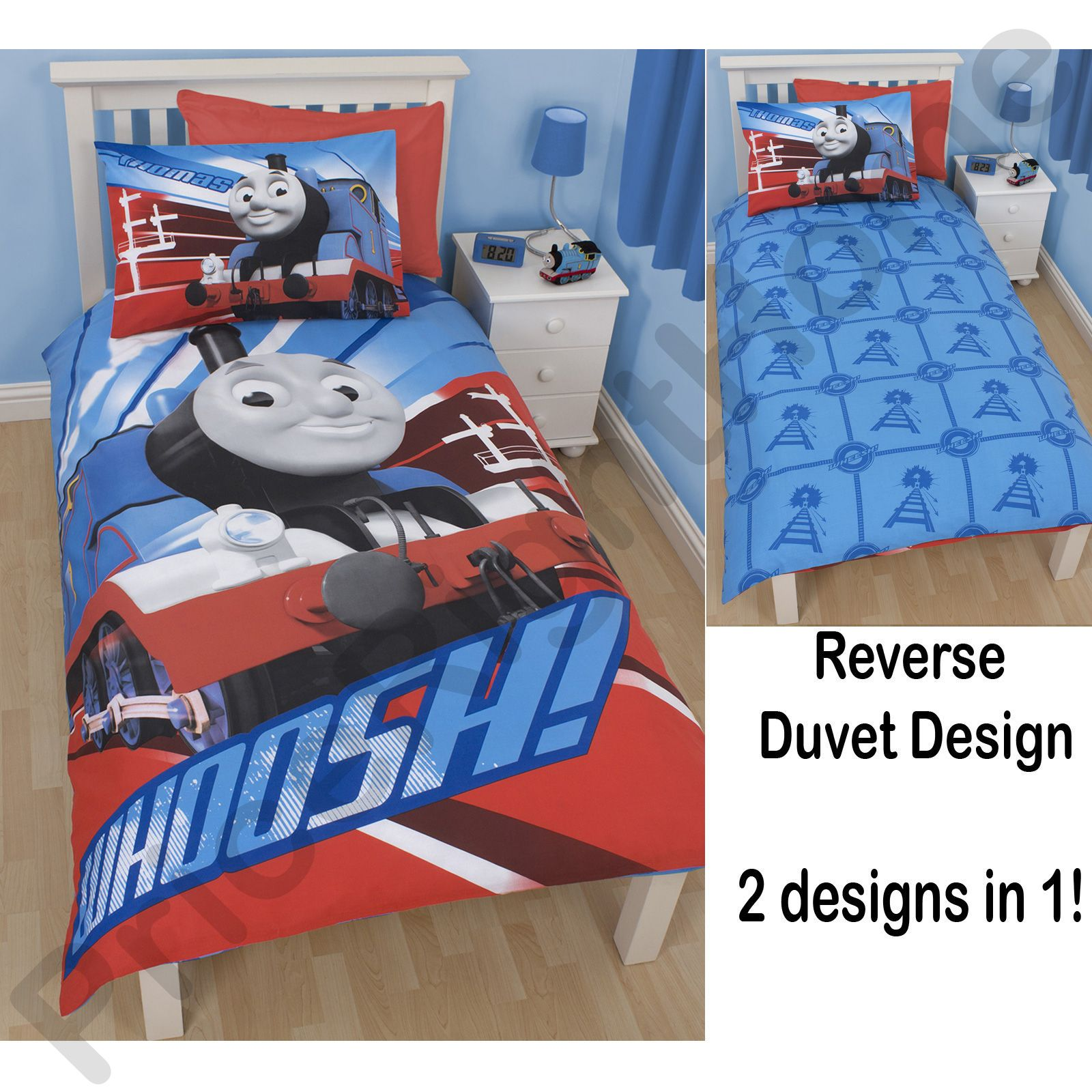 THOMAS THE TANK ENGINE BEDDING – SINGLE, DOUBLE AND TODDLER SIZE ... : thomas single bed quilt cover - Adamdwight.com