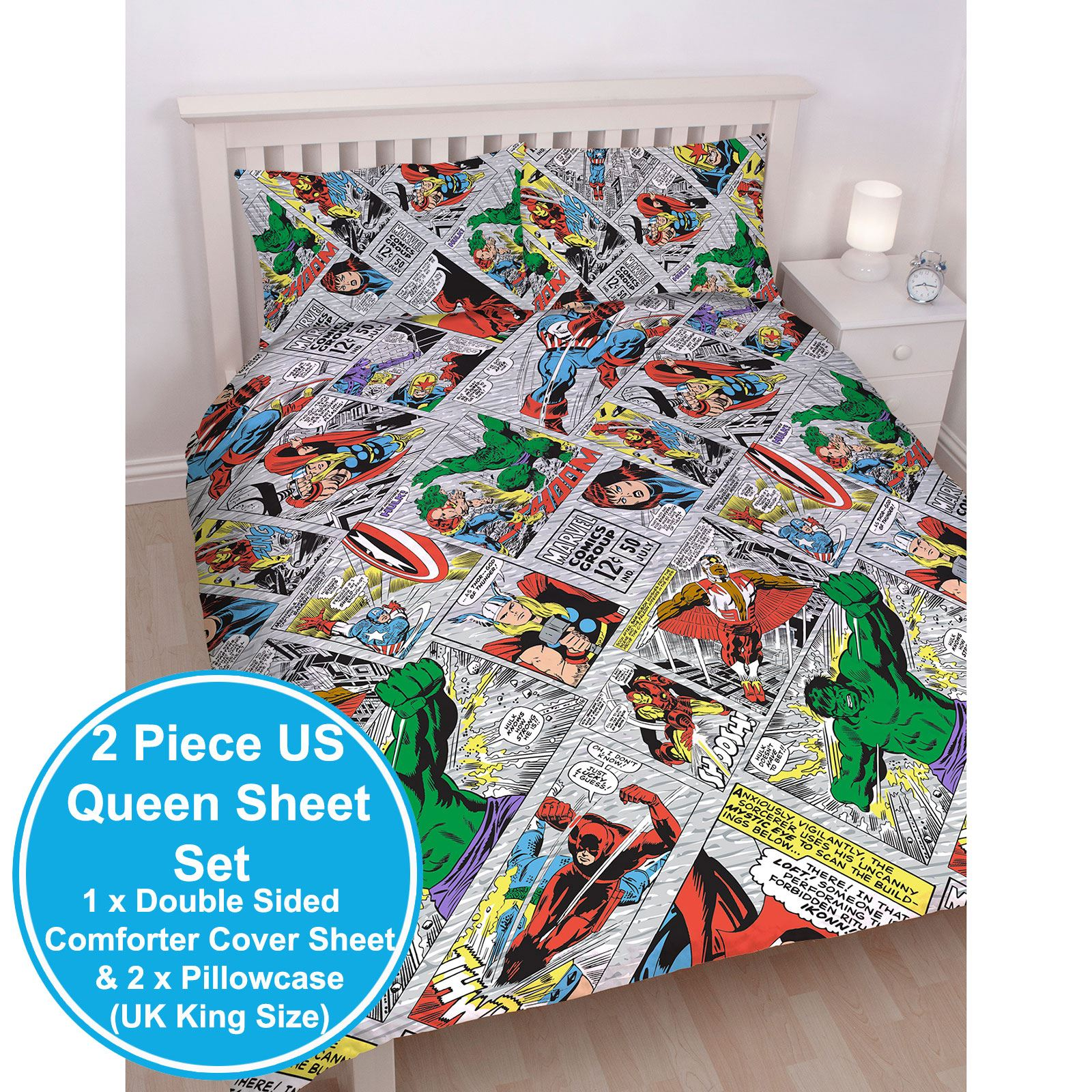 Spiderman and friends bedding - Marvel Duvet Cover Sets Single Double King Comics Avengers Spiderman Batman