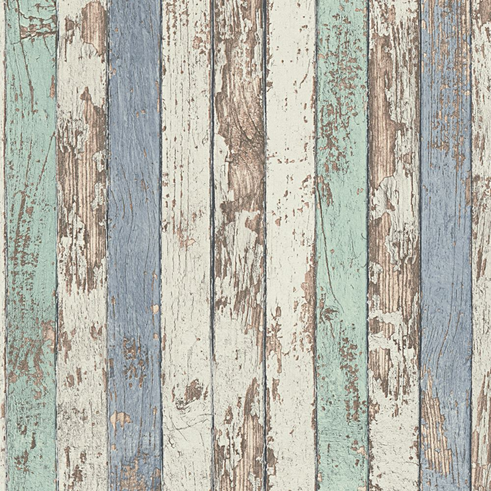 WOODEN EFFECT WALLPAPER - RUSTIC WOOD PANELS CHOPPED LOGS ...