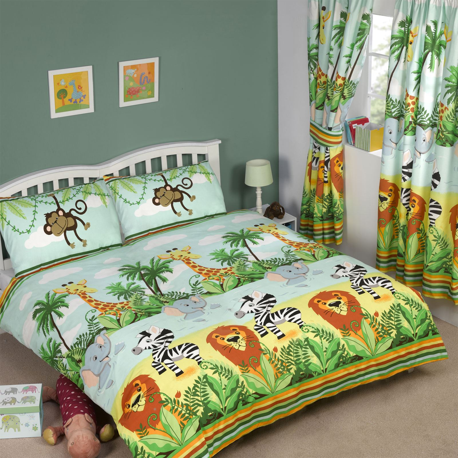 Jungle Themed Duvet Covers Kids Childrens Animals Single