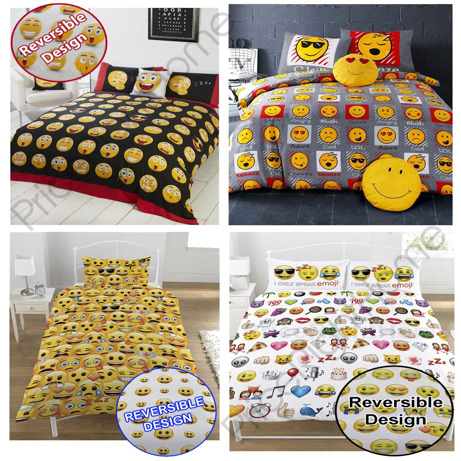 Emoji Duvet Cover Sets Single Amp Double Funny Smiley