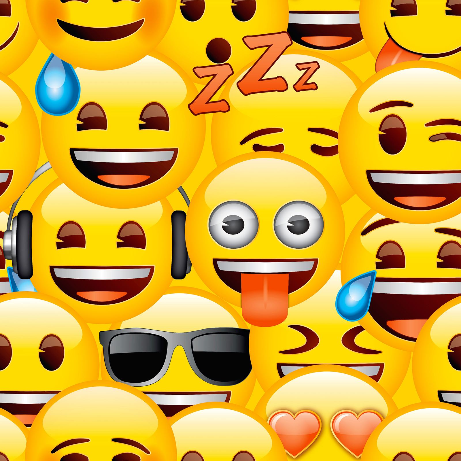 EMOJI WALLPAPER CHILDRENS BEDROOM WALL DECOR FEATURE WALL NEW - WP4 ...