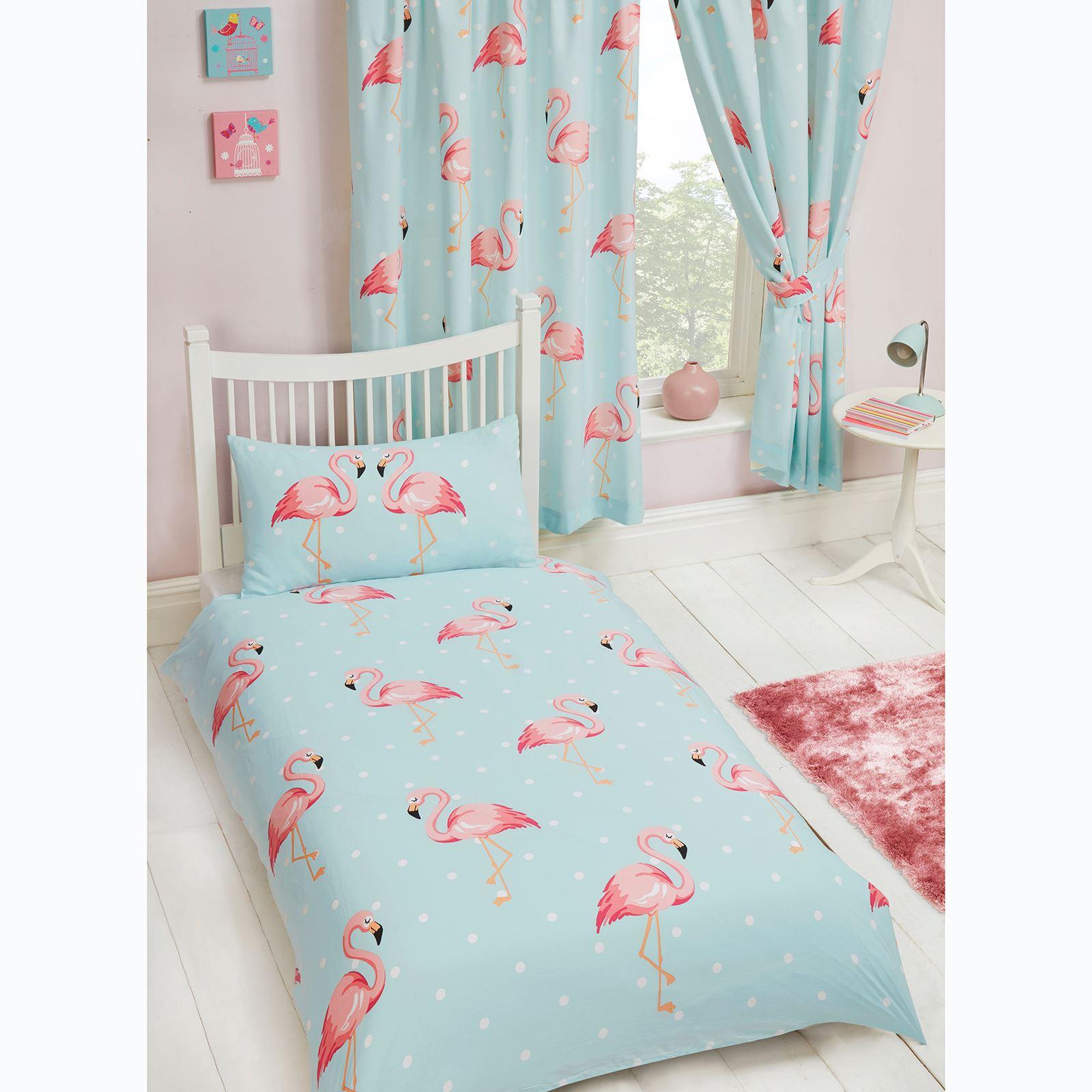 Fifi Flamingo Blue Turquoise Curtains Lined 66 Quot X 72 Quot Kids