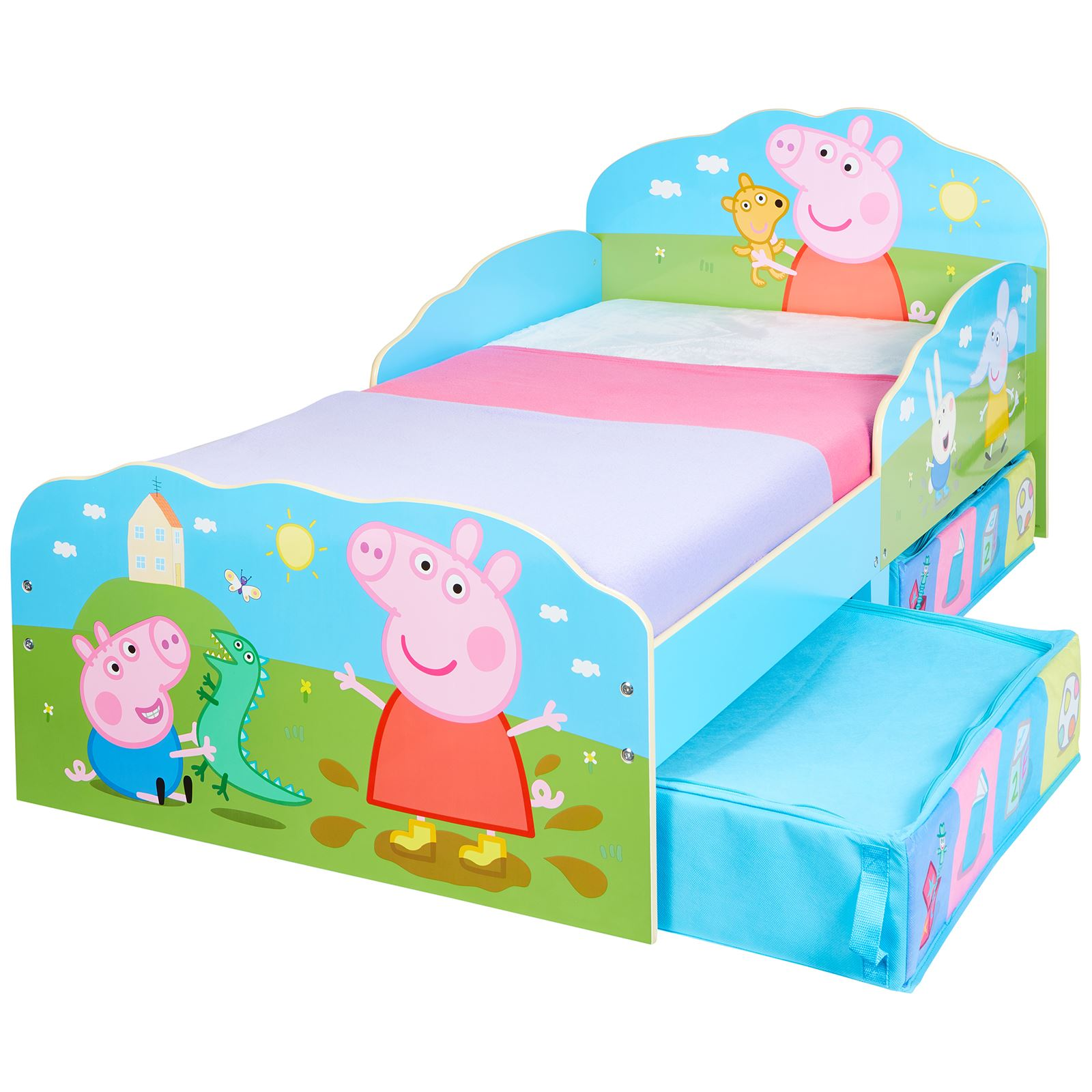 Peppa Pig Lettino Con Cassettone Materasso Opzioni Bambini Carattere Camera Da Letto Ebay
