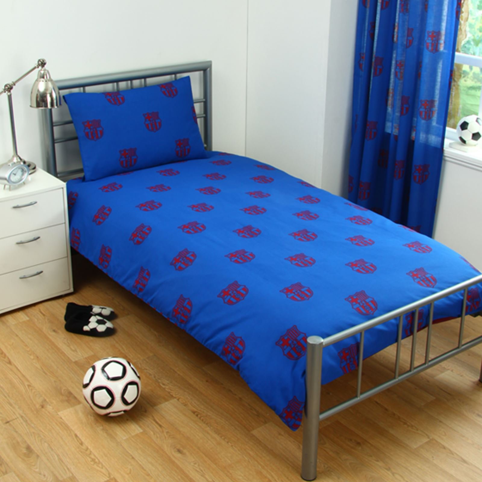 barcelona bedding and bedroom accessories boys football new | ebay
