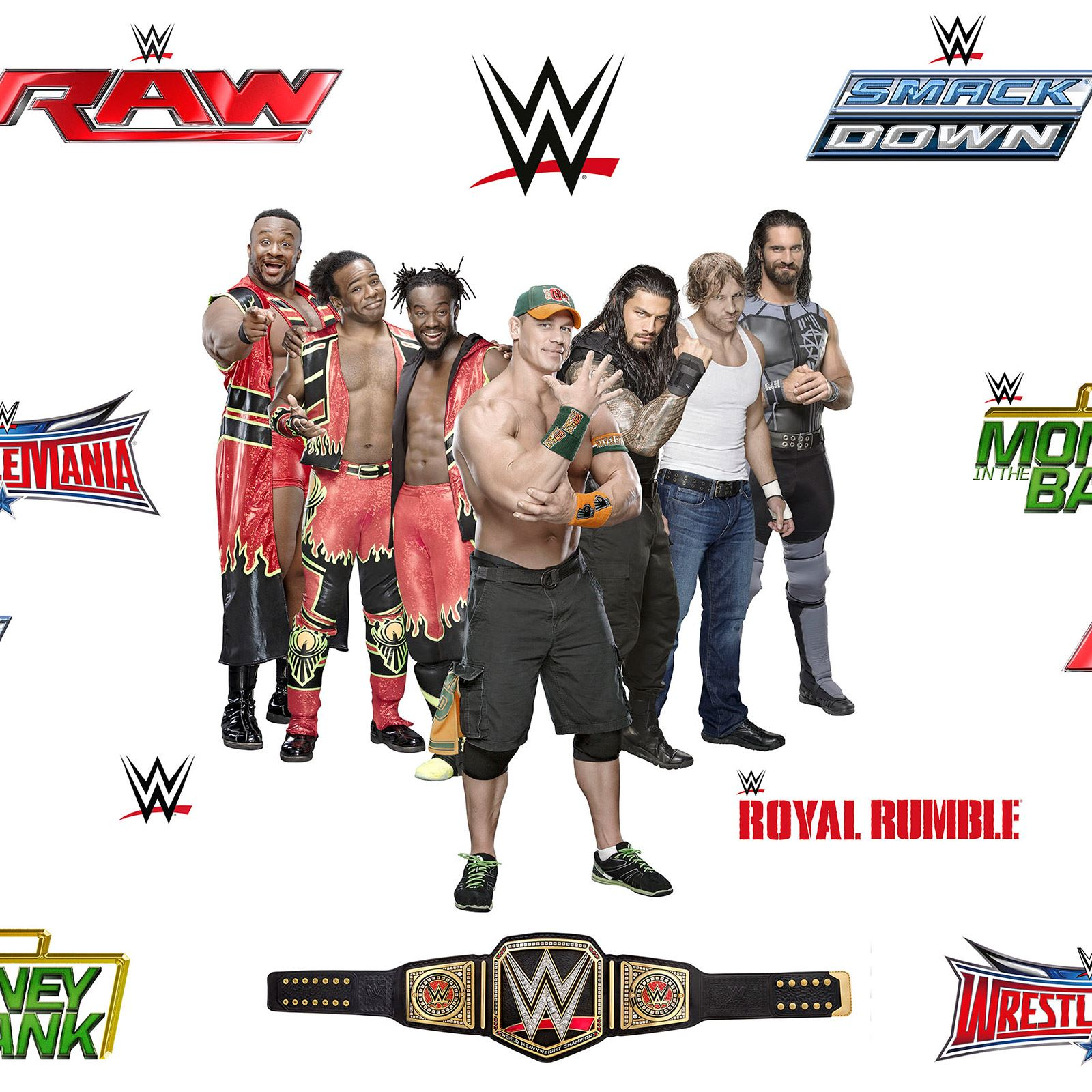 WWE WRESTLING SUPERSTARS WALLPAPER ROLLS NEW