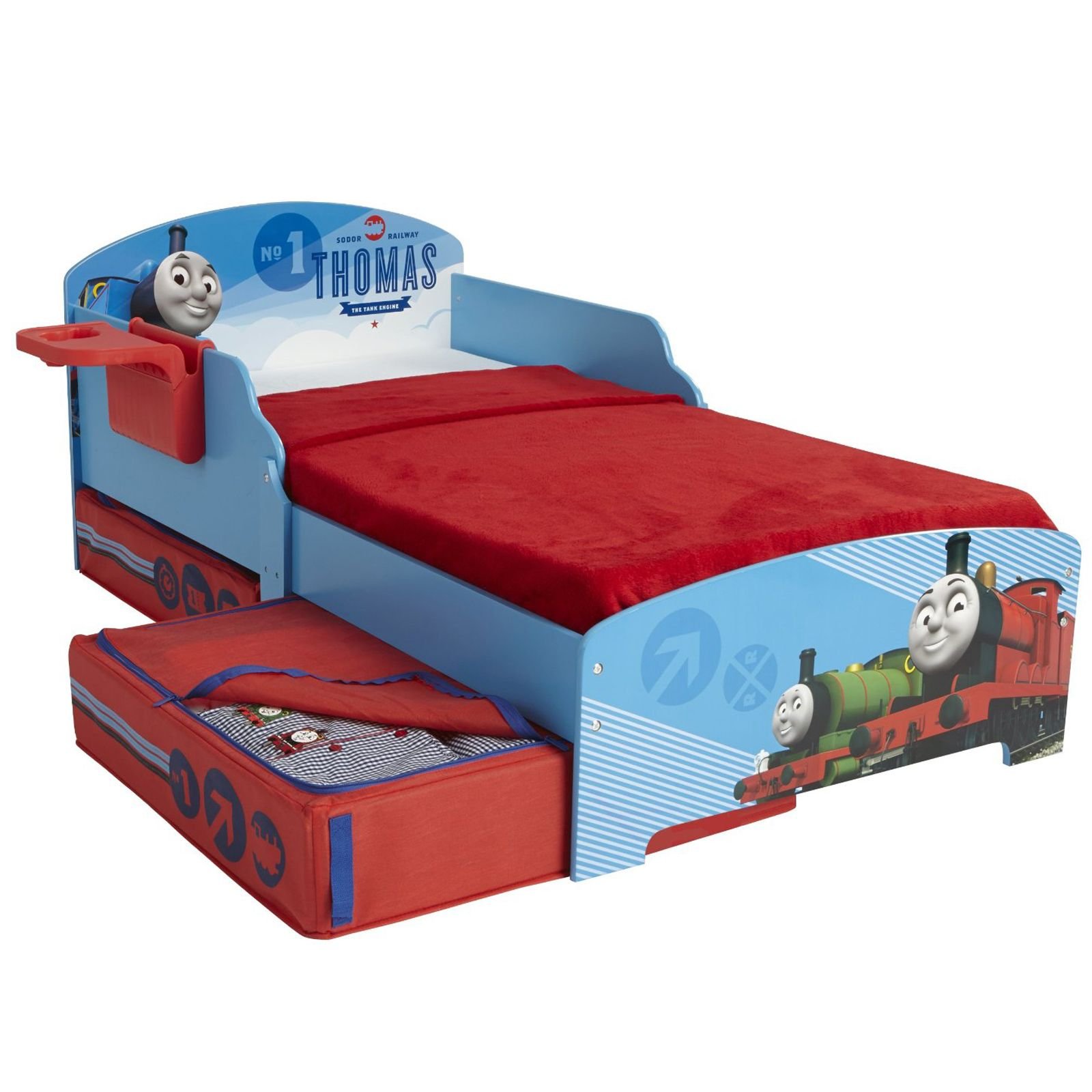 CHARACTER DISNEY JUNIOR TODDLER BEDS WITH STORAGE SHELF