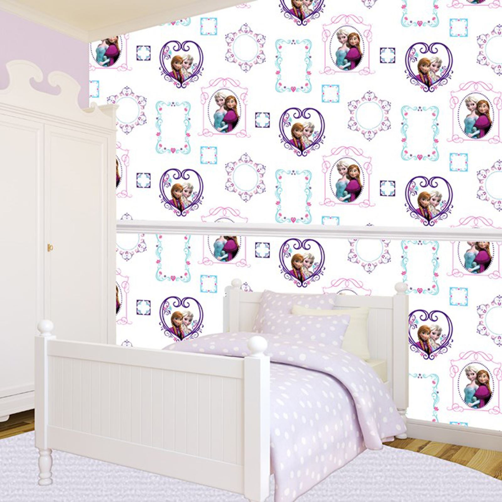 Disney frozen wallpaper borders and wall stickers wall dcor ebay teraionfo