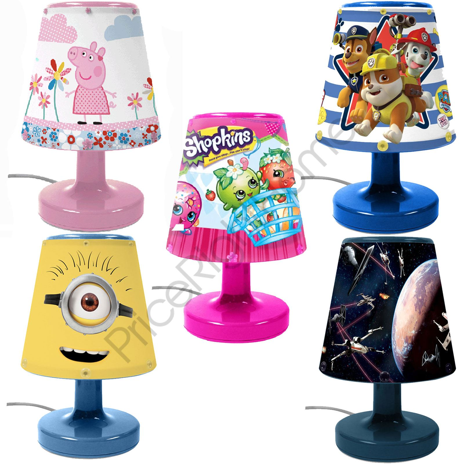 Disney Amp Character Kids Bedroom Bedside Lamps For Boys And