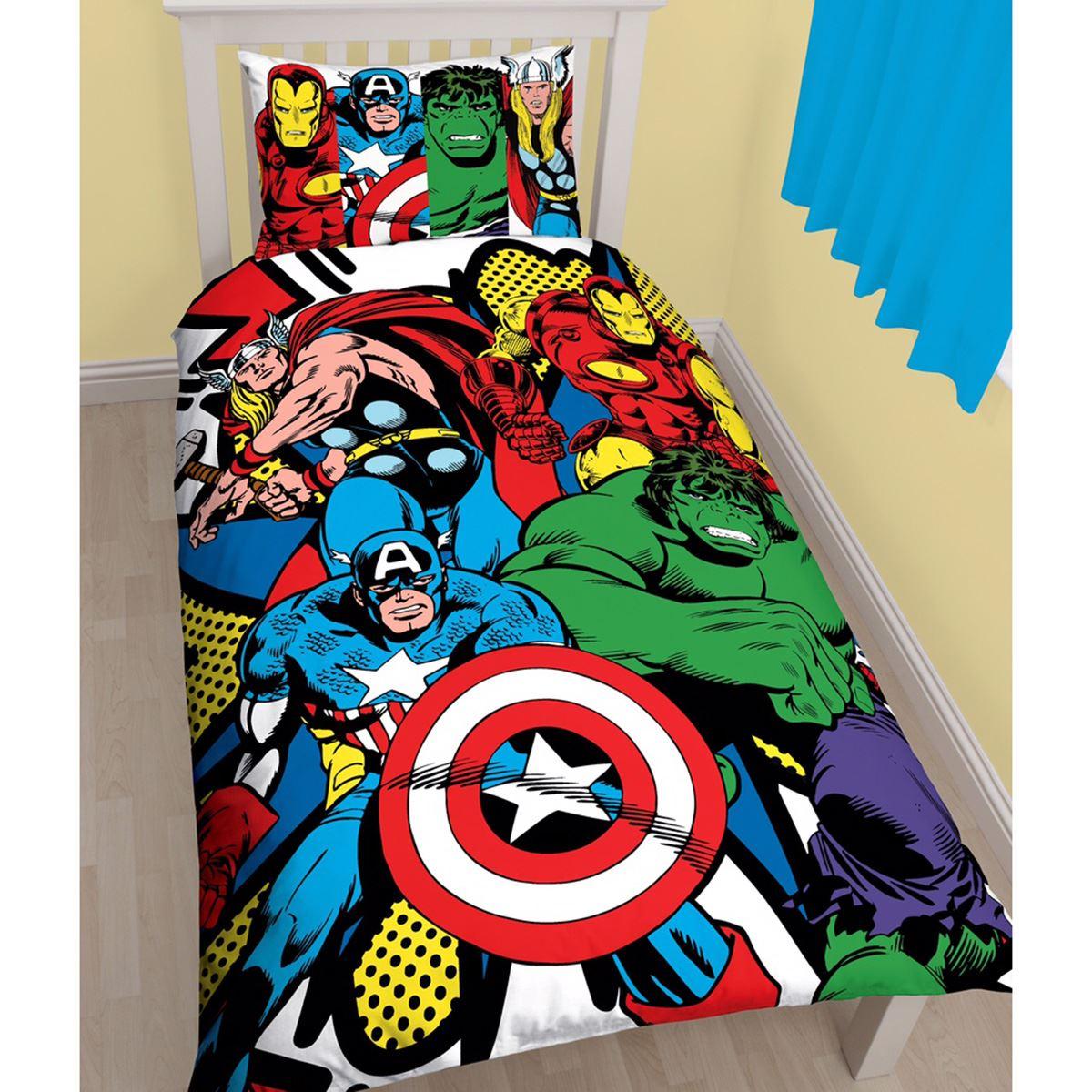 marvel single bedding