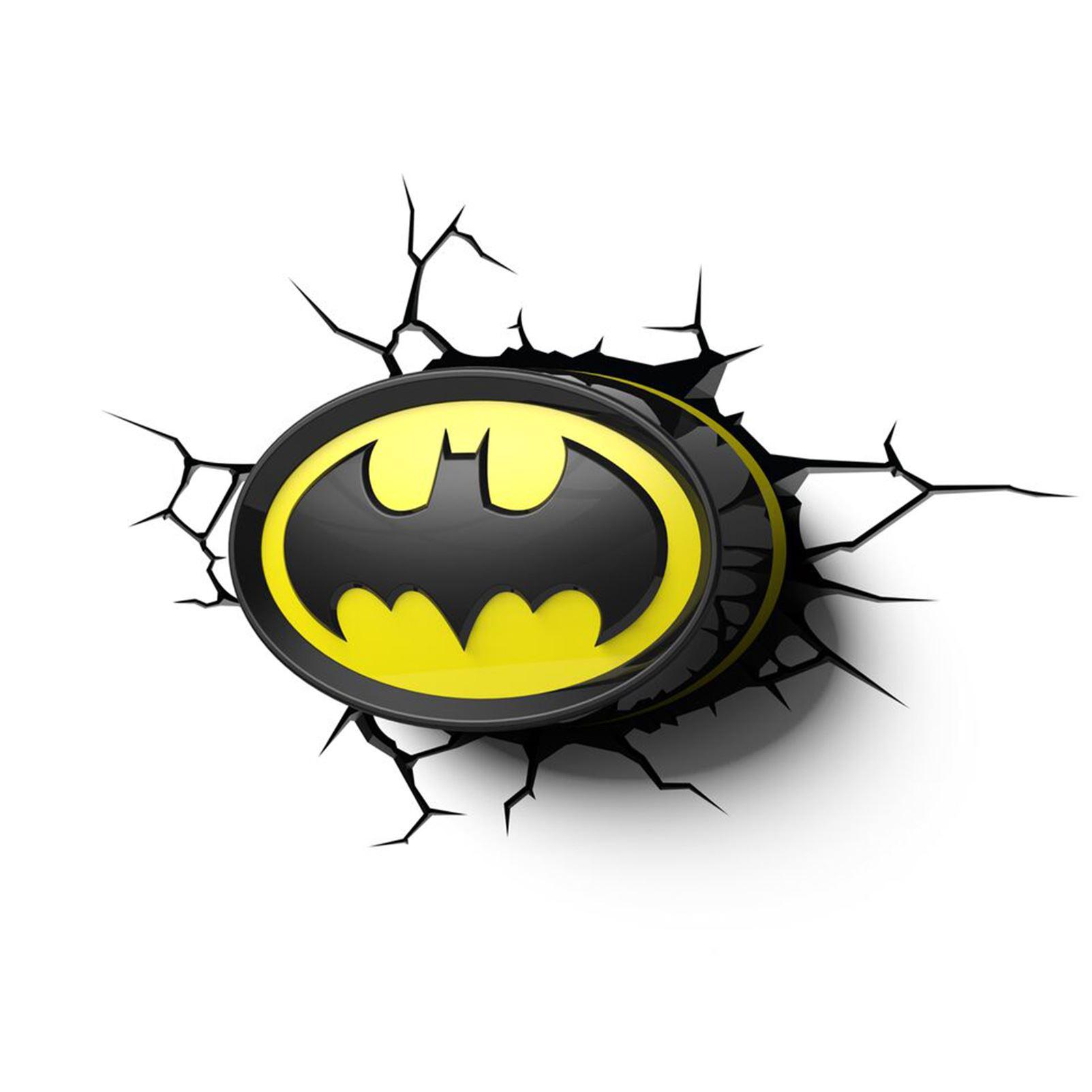 Batman Logo 3d Led Wall Night Light New Official Bedroom