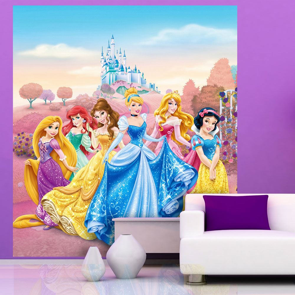 Disney princess frozen wallpaper murals anna elsa for Cinderella wall mural