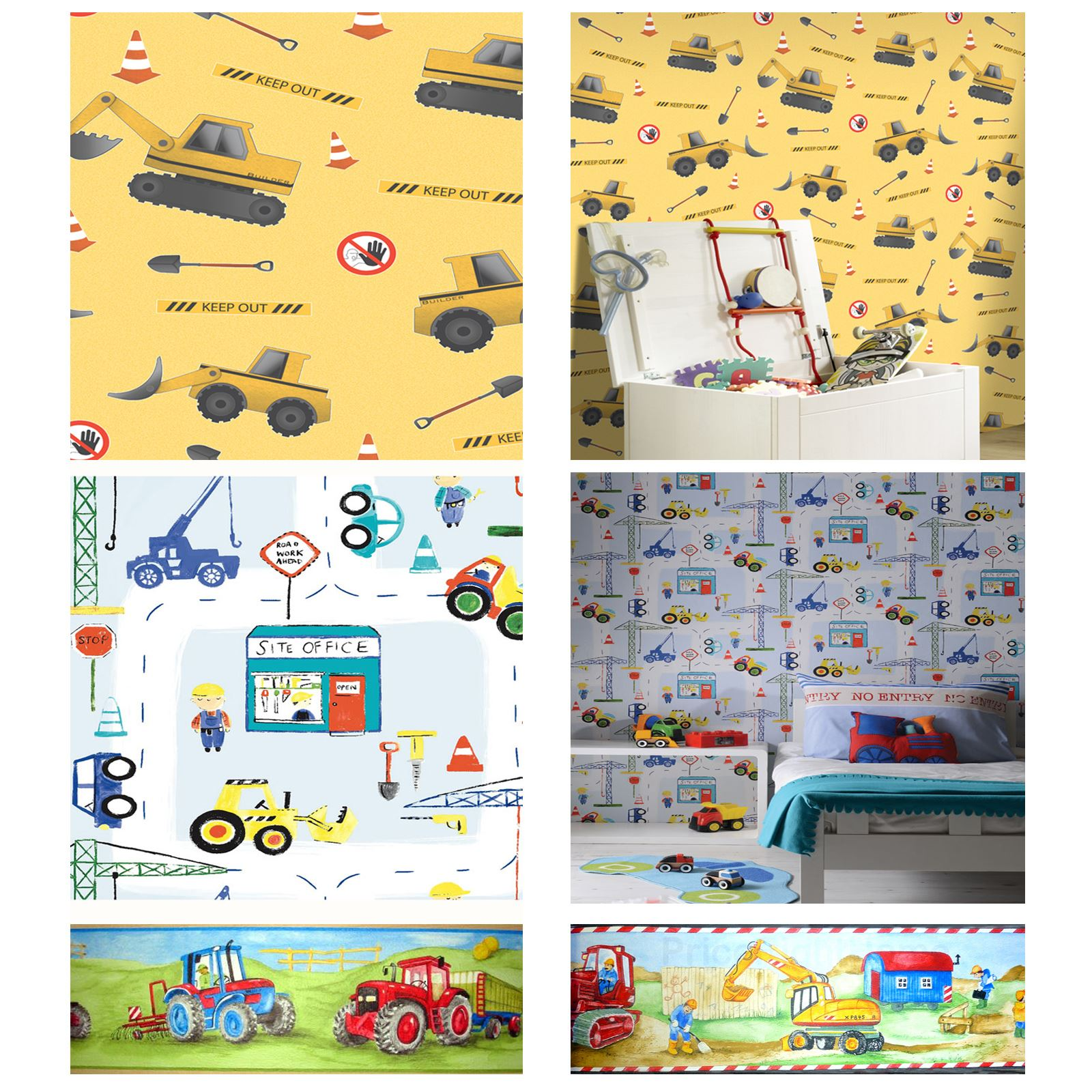 Construction Theme Wallpapers Amp Borders Diggers Tractors