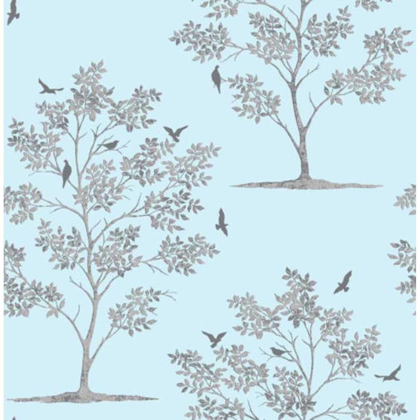 Fine Decor Wallpaper Trees And Birds