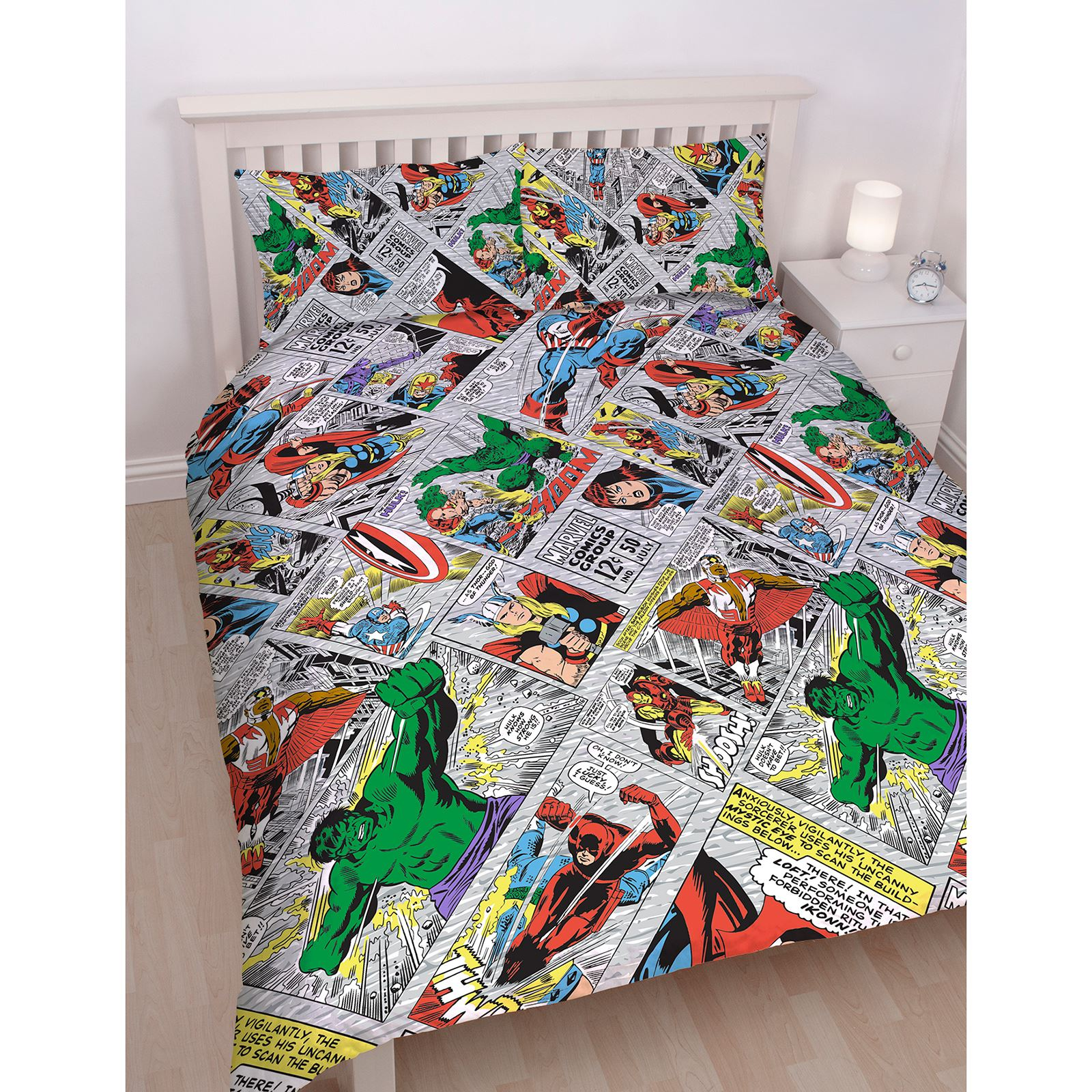 Copripiumino Capitan America.Marvel Comics Retro Set Copripiumino Doppio Reversibile Capitan