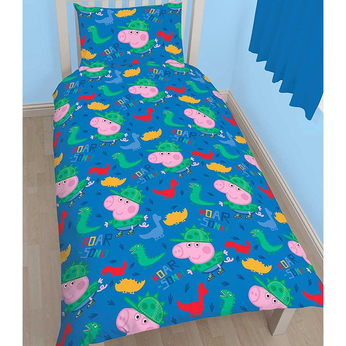 Official Peppa Pig George Roarsome Single Duvet Cover Set