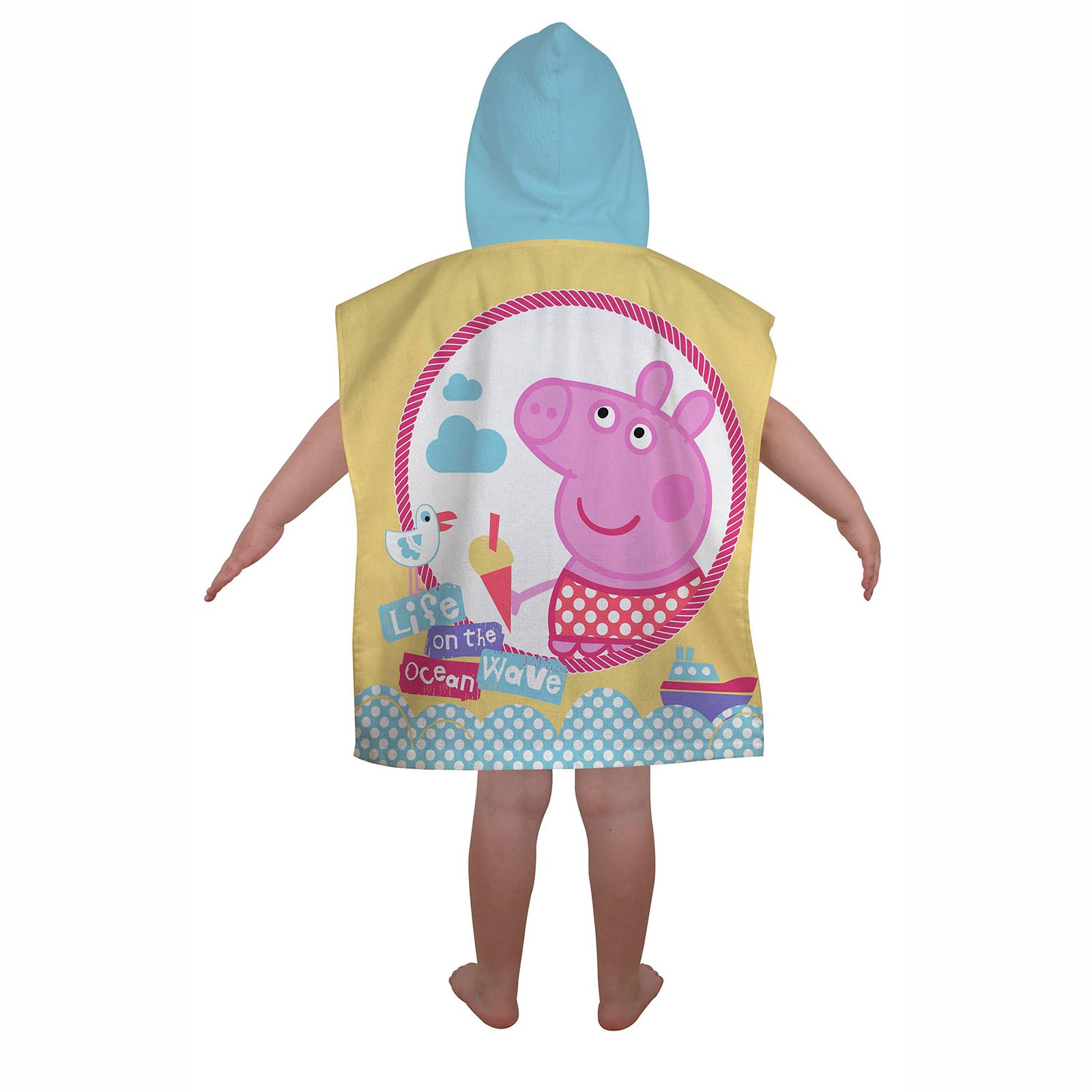 Peppa-Pig-George-100-Cotton-Beach-towels-amp-Hooded-Poncho-Boys-Girls-Kids miniature 9