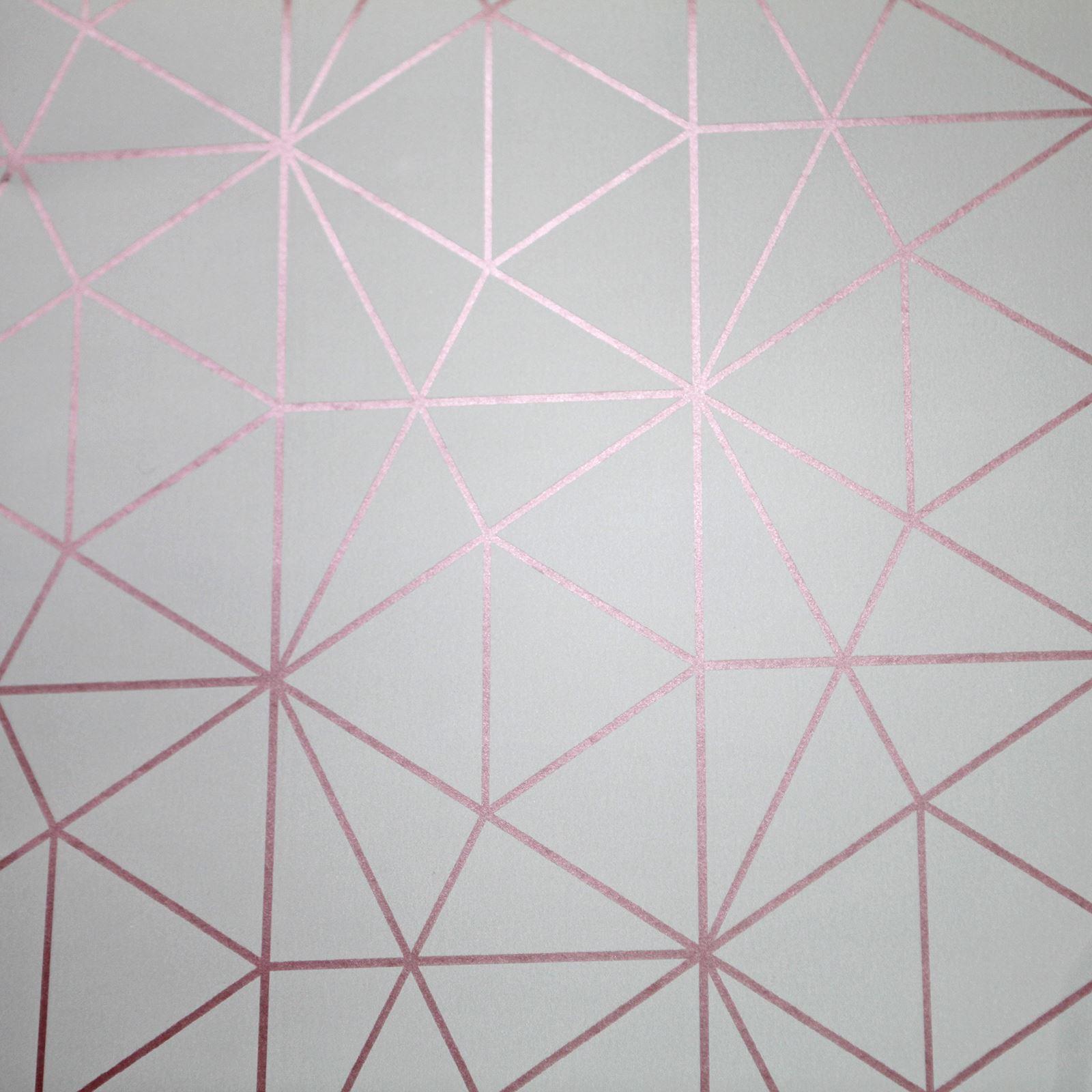 m tro prisme g om trique triangle papier peint gris dor. Black Bedroom Furniture Sets. Home Design Ideas