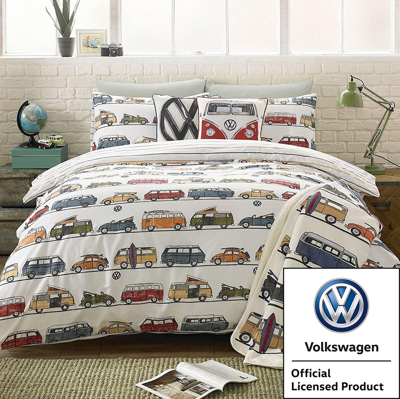 Details about VW VOLKSWAGEN CAMPERVAN BEDROOM - DUVET COVER SET SINGLE  DOUBLE   THROW BLANKET 2d3972802