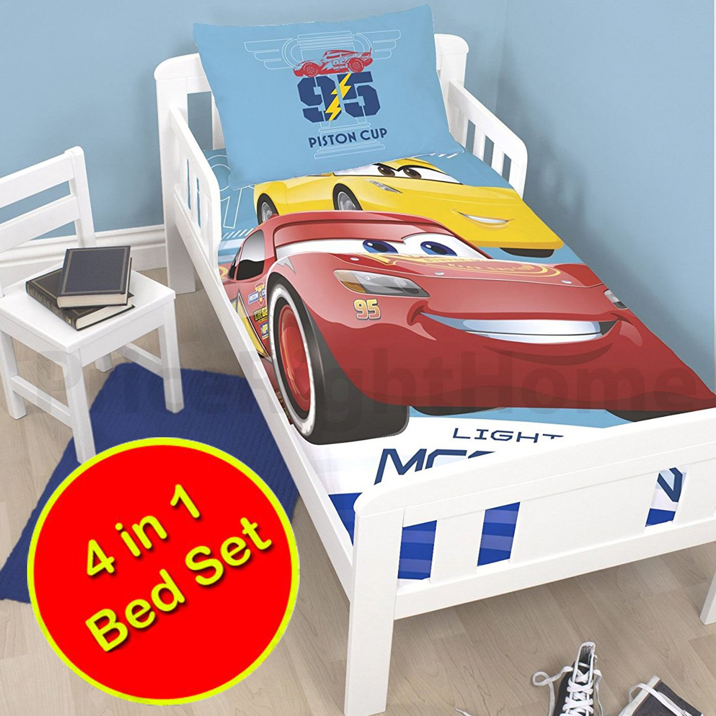Disney cars lightning mcqueen bedding single double junior covers available ebay - Letto cars disney ...