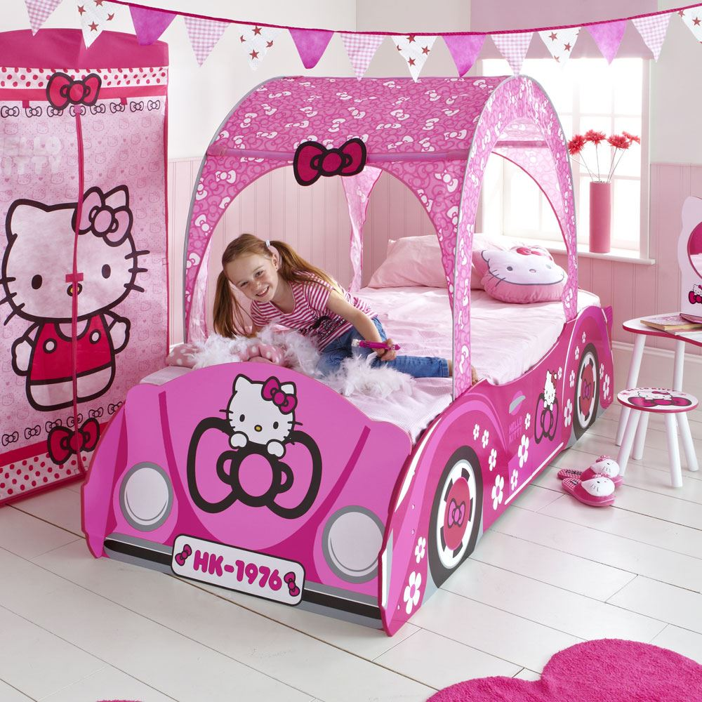 appealing hello kitty living room | KIDS DISNEY AND CHARACTER FEATURE TODDLER BEDS NEW | eBay