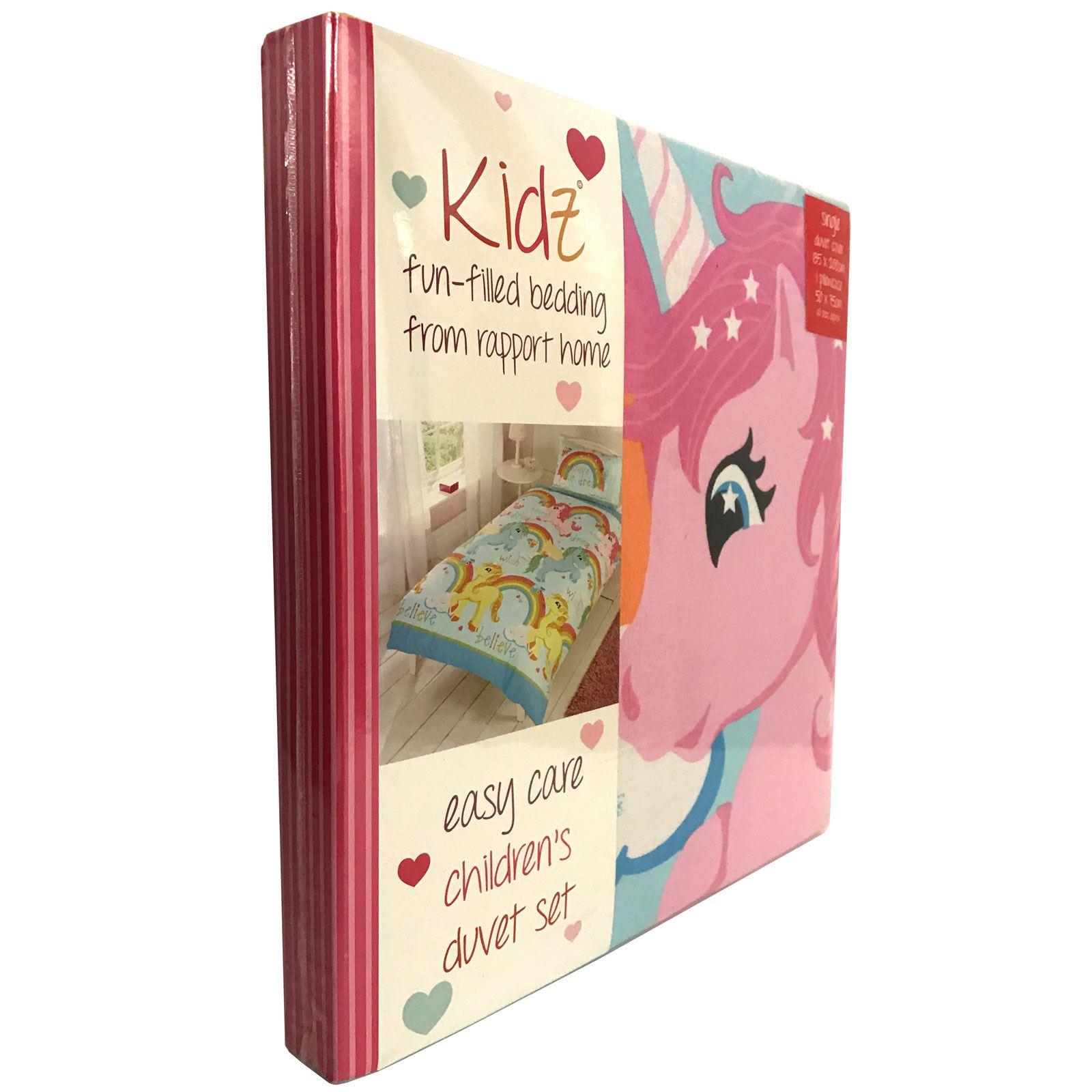 CHARACTER-AND-THEMED-SINGLE-DUVET-COVER-KIDS-BEDDING-SETS-AVENGERS-KITTY-UNICORN thumbnail 155