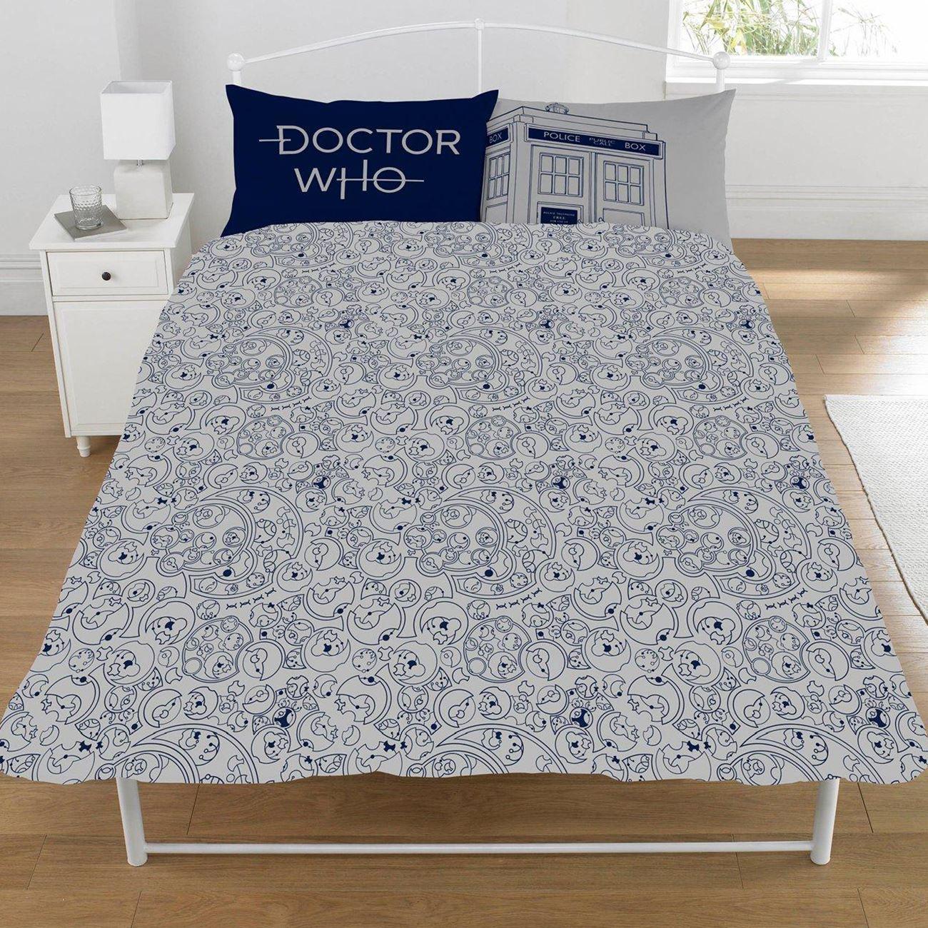 Doctor Who Klassisch Tardis Doppelbett Bezug Set Wendbare Bettwäsche