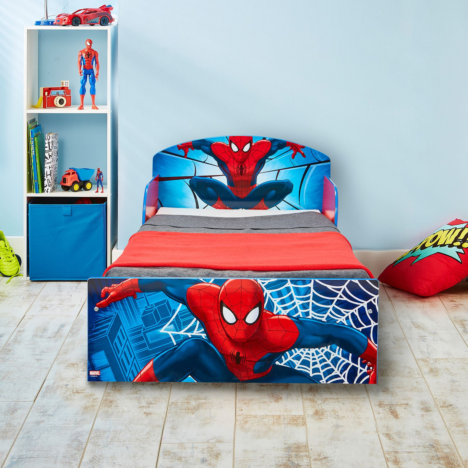 Spiderman Toddler Bed With Protective Side Guards Amp 3