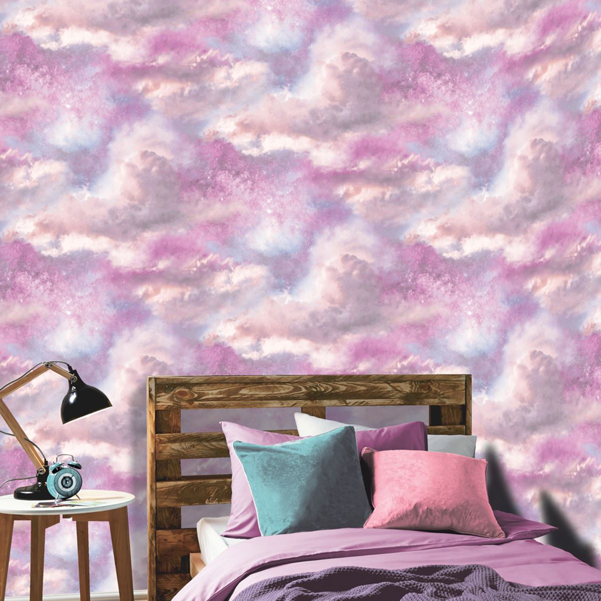 strass galaxy wolke tapete lila zartes rosa arthouse 260009 glitzer ebay. Black Bedroom Furniture Sets. Home Design Ideas