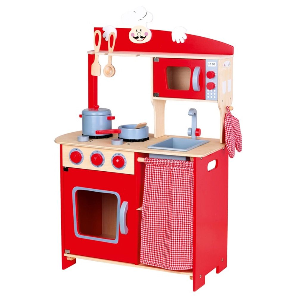 Leomark Wooden Kitchen Childrens Play Kitchen With Accessories Toys Free P P New Ebay
