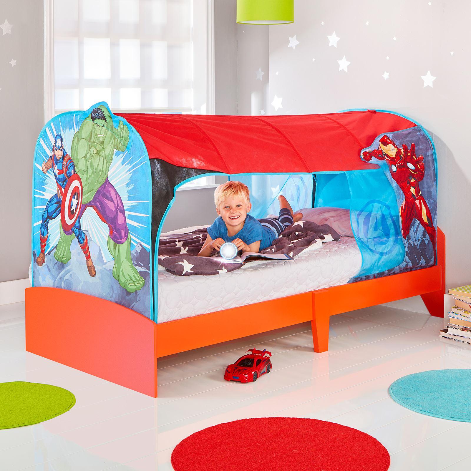 MID-SLEEPER OVER BED & BED TENT KIDS BOYS BEDROOM - MARVEL ...