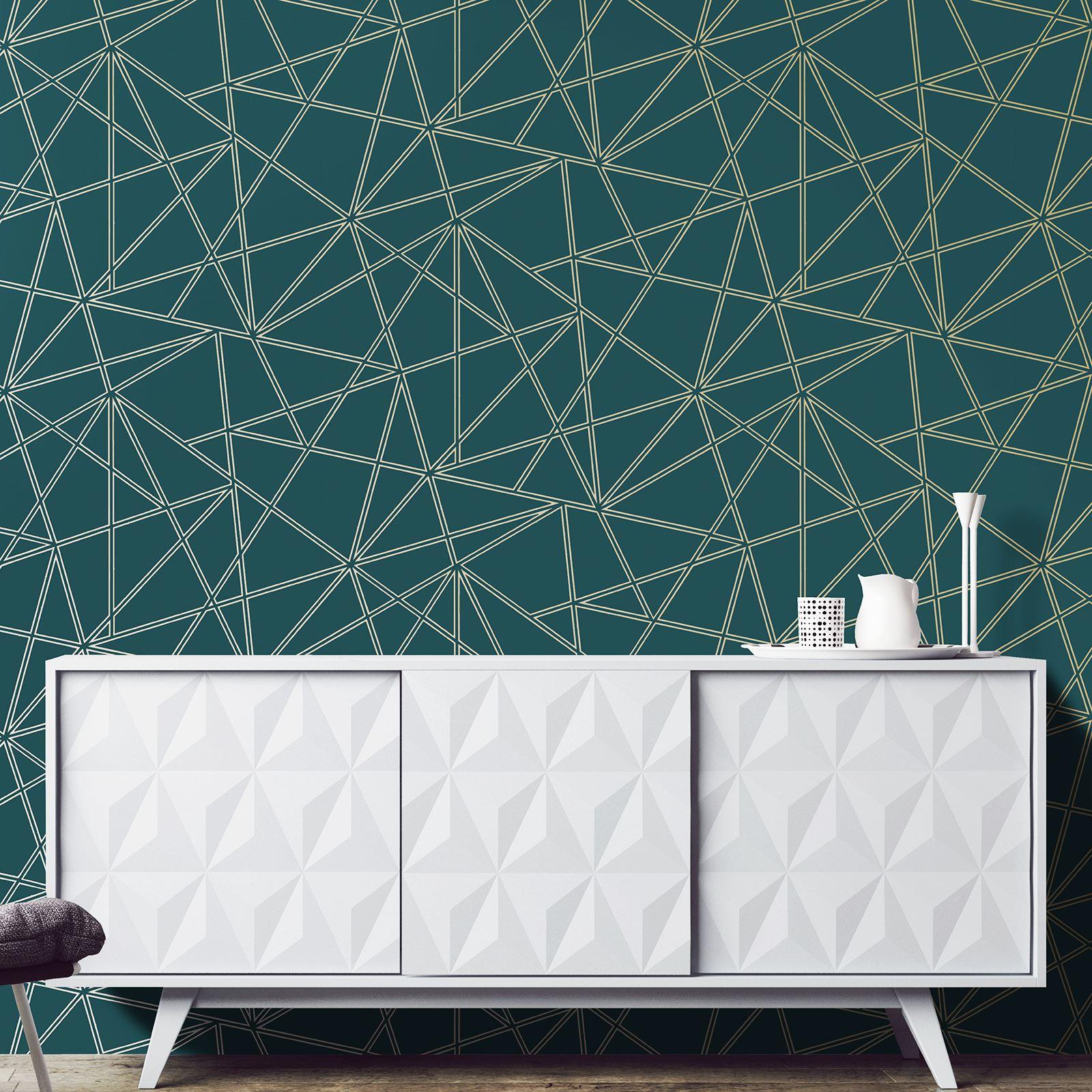 Géométrique Papier Peint Décoration Moderne triangles Treillis ...