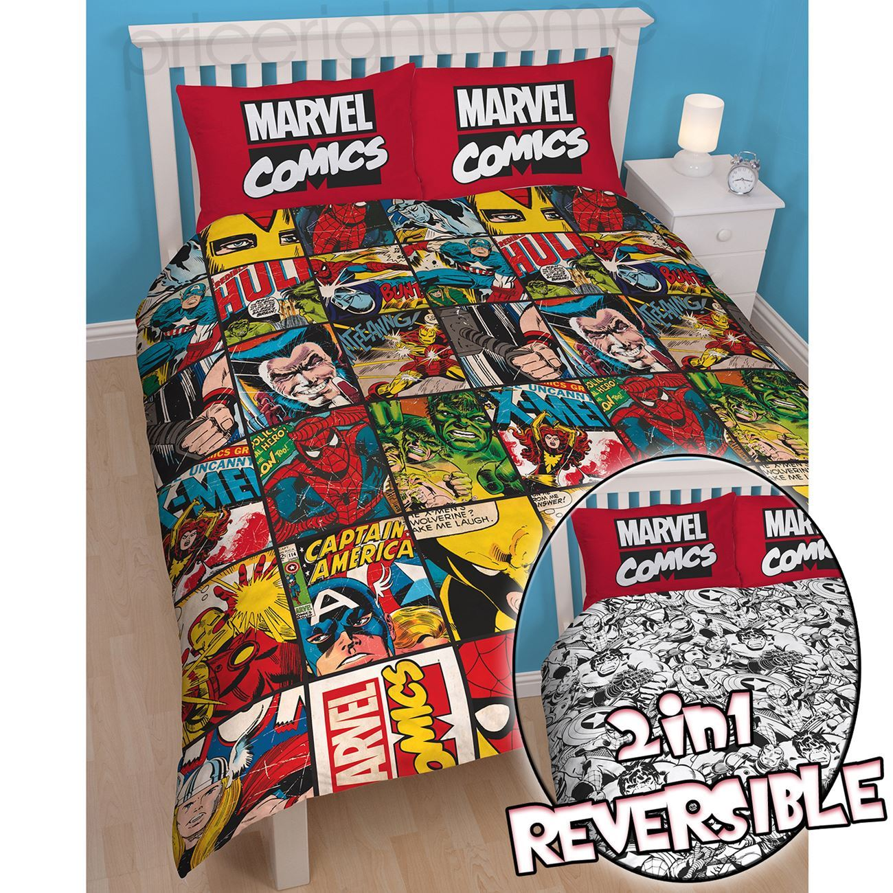 Good OFFICIAL AVENGERS MARVEL COMICS BEDDING BEDROOM ACCESSORIES DUVETS