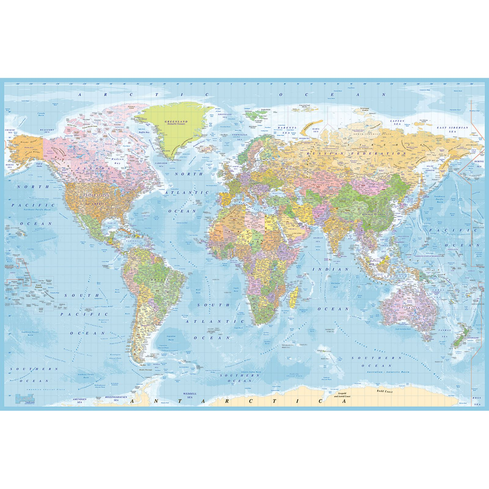 World map wall murals 4 designs available feature wall office world map wall murals 4 designs available feature gumiabroncs Choice Image