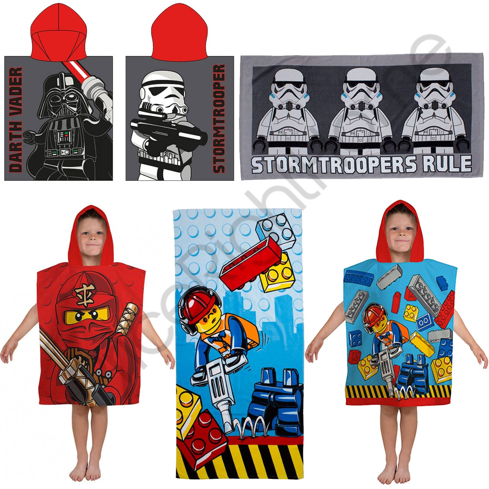 lego handt cher ponchos kinder baumwolle strandtuch star wars dc comics ebay. Black Bedroom Furniture Sets. Home Design Ideas