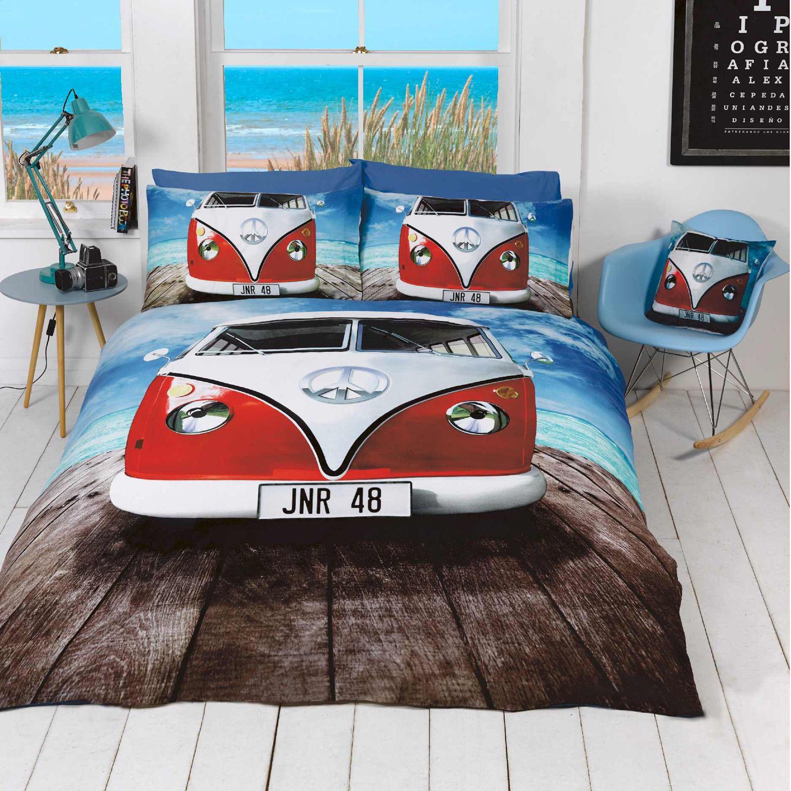 Vw Volkswagen Campervan Duvet Cover Sets Retro Car Bedding