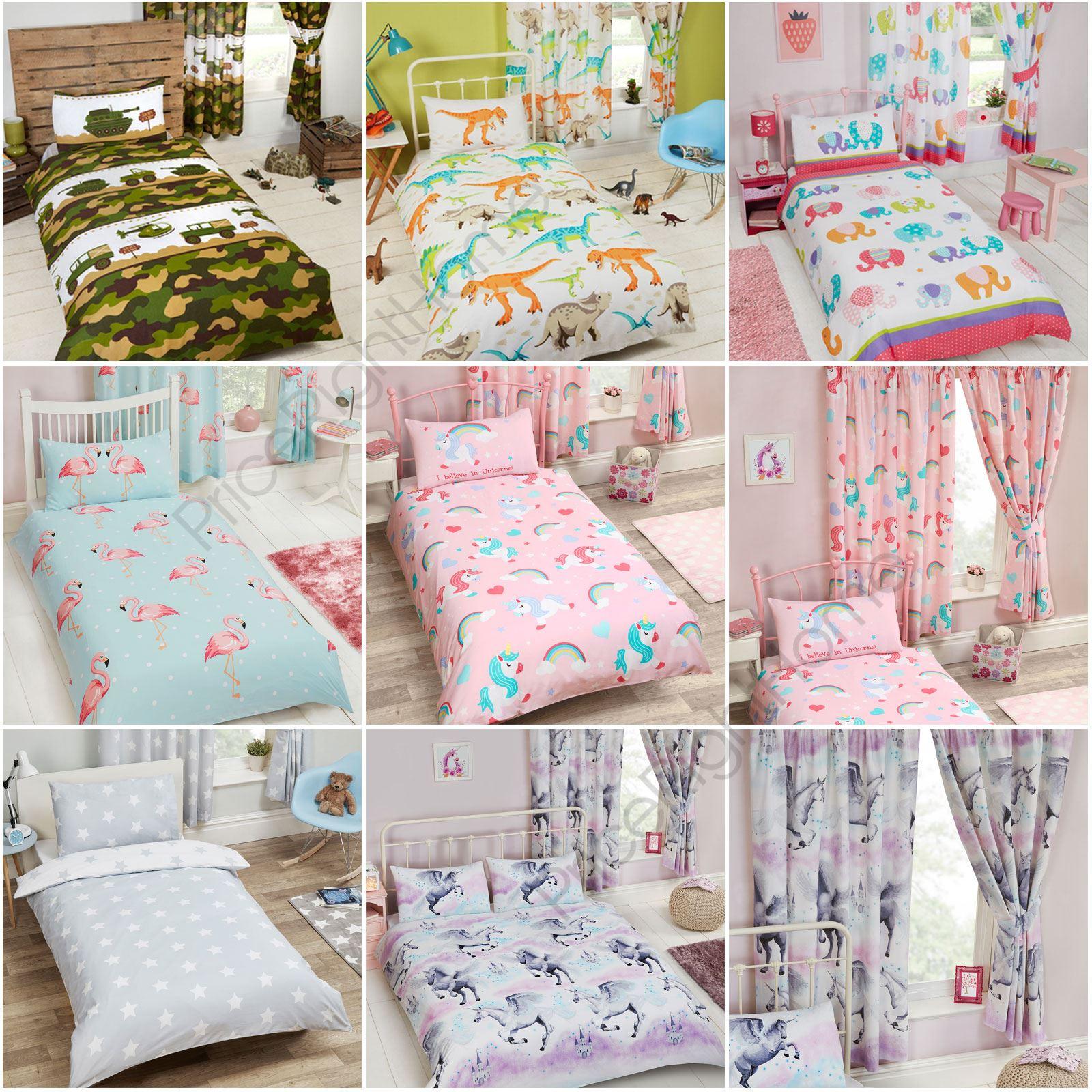 Childrens Matching Duvet Cover Sets Curtains Wallpaper