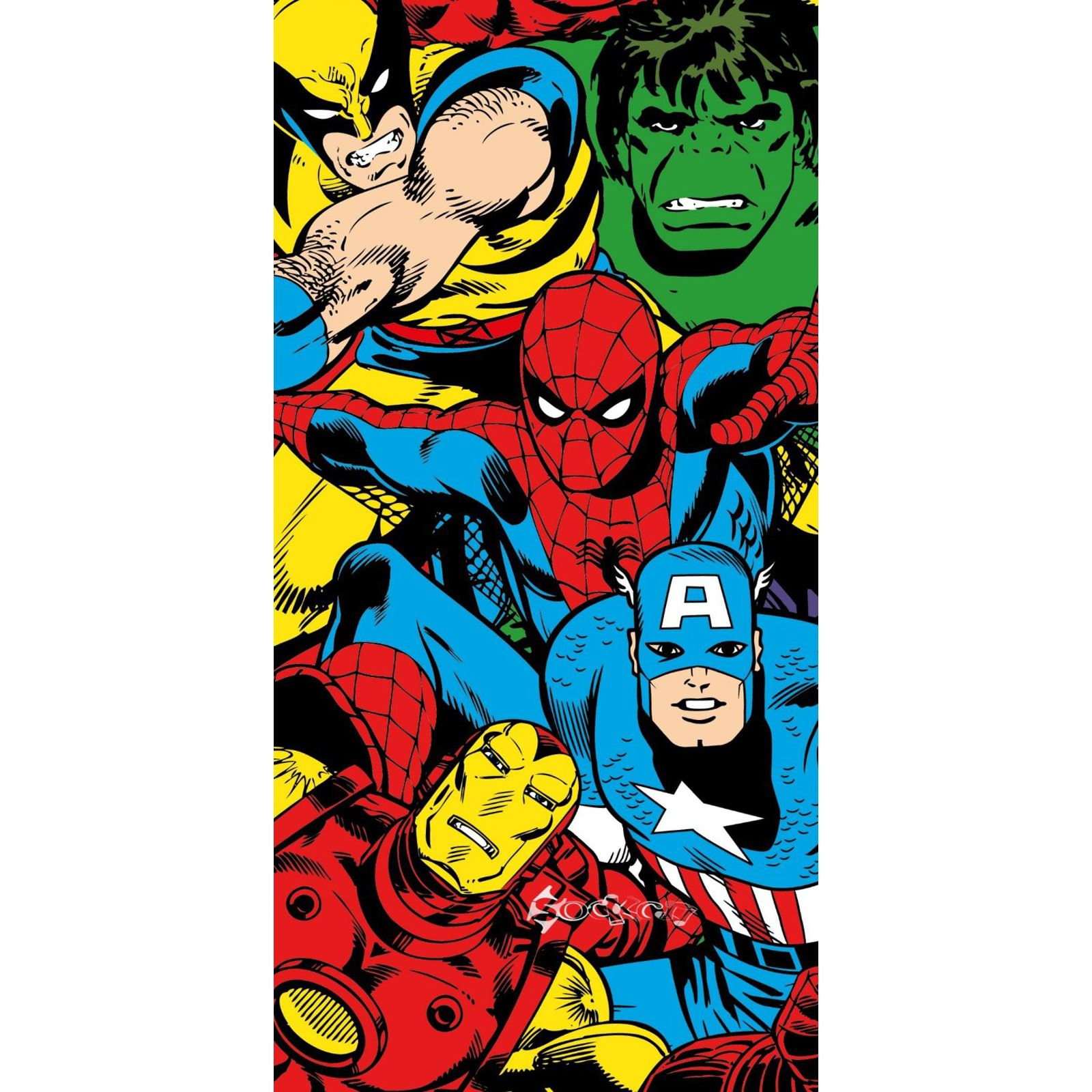 Marvel Design 100 Cotton Beach Bath Towels Superheroes