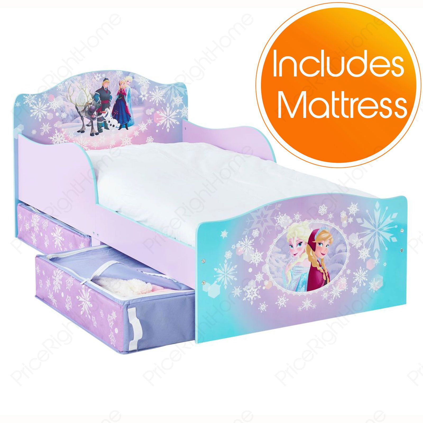 disney frozen mdf kleinkind bett mit lager matratze ebay. Black Bedroom Furniture Sets. Home Design Ideas
