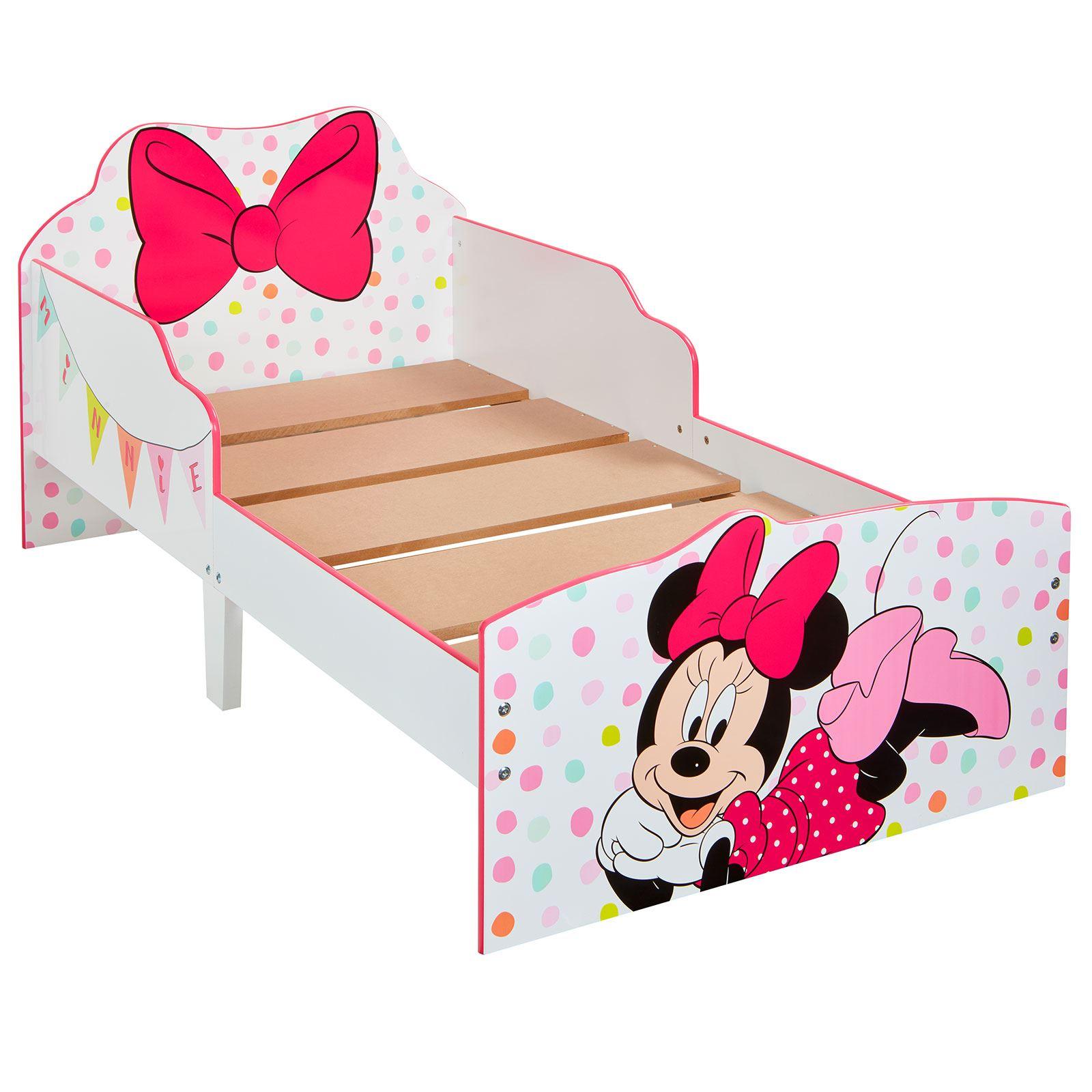 Minnie Mouse cama infantil con almacenamiento de lunares lazo ...