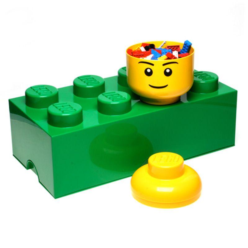 Lego almacenaje ladrillo caja 8 pomos infantil dormitorio for Caja almacenaje infantil