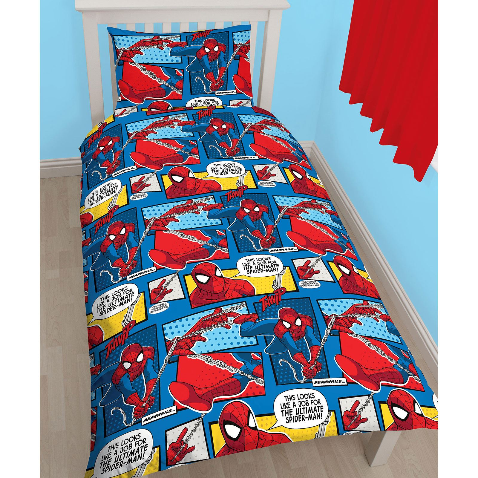 marvel spiderman bettbezug sets kinder jungen bettw sche kinder einzeln doppel ebay. Black Bedroom Furniture Sets. Home Design Ideas
