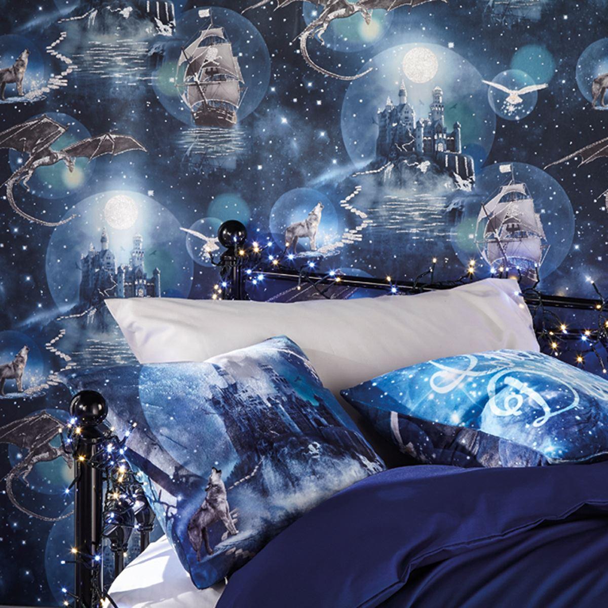 ARTHOUSE-GLITTER-DETAIL-KIDS-WALLPAPER-BEDROOM-UNICORN-MERMAID-SPACE thumbnail 48