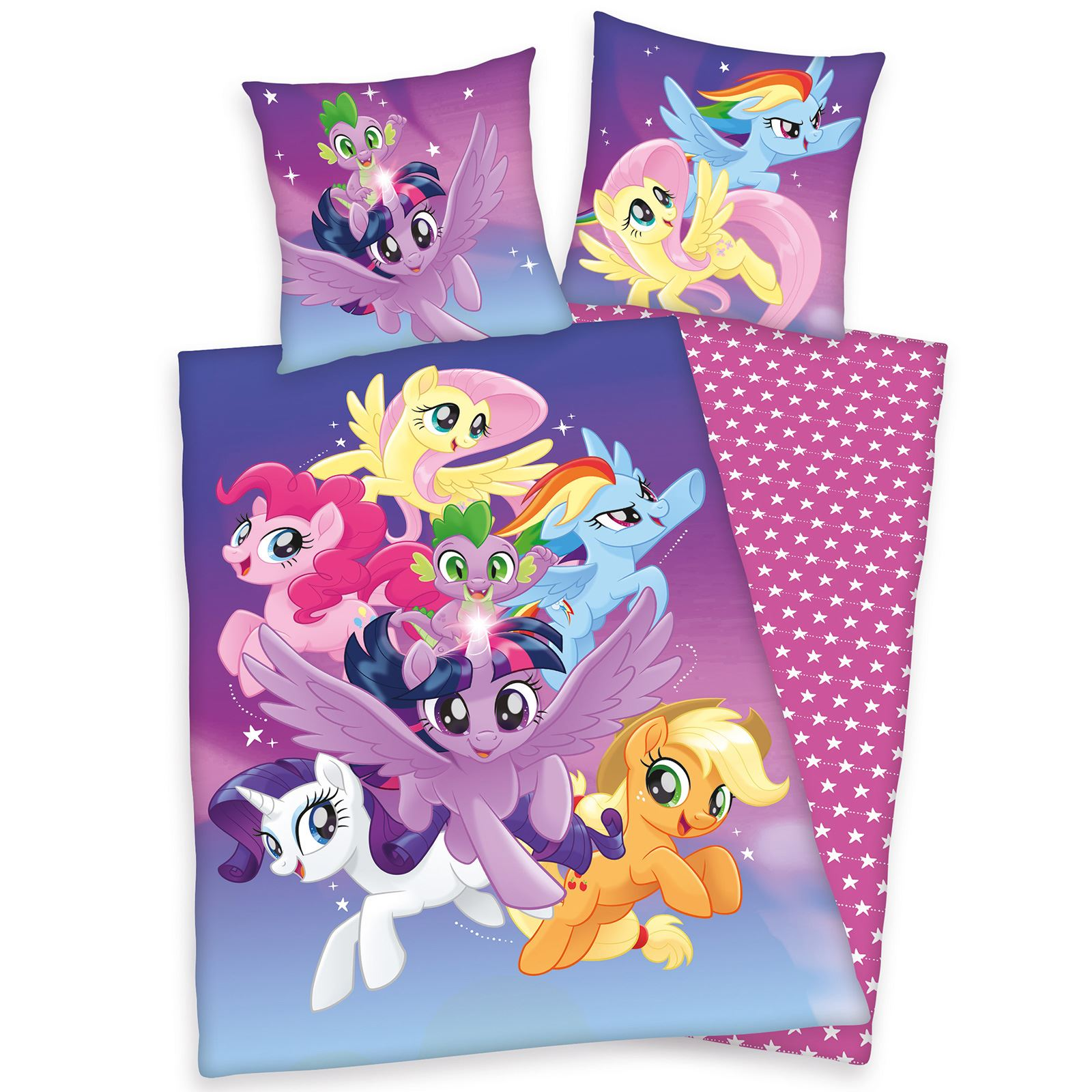 GIRLS-SINGLE-PANEL-DUVET-COVER-SET-KIDS-TROLLS-LADYBUG-PONY-PRINCESS-amp-MORE