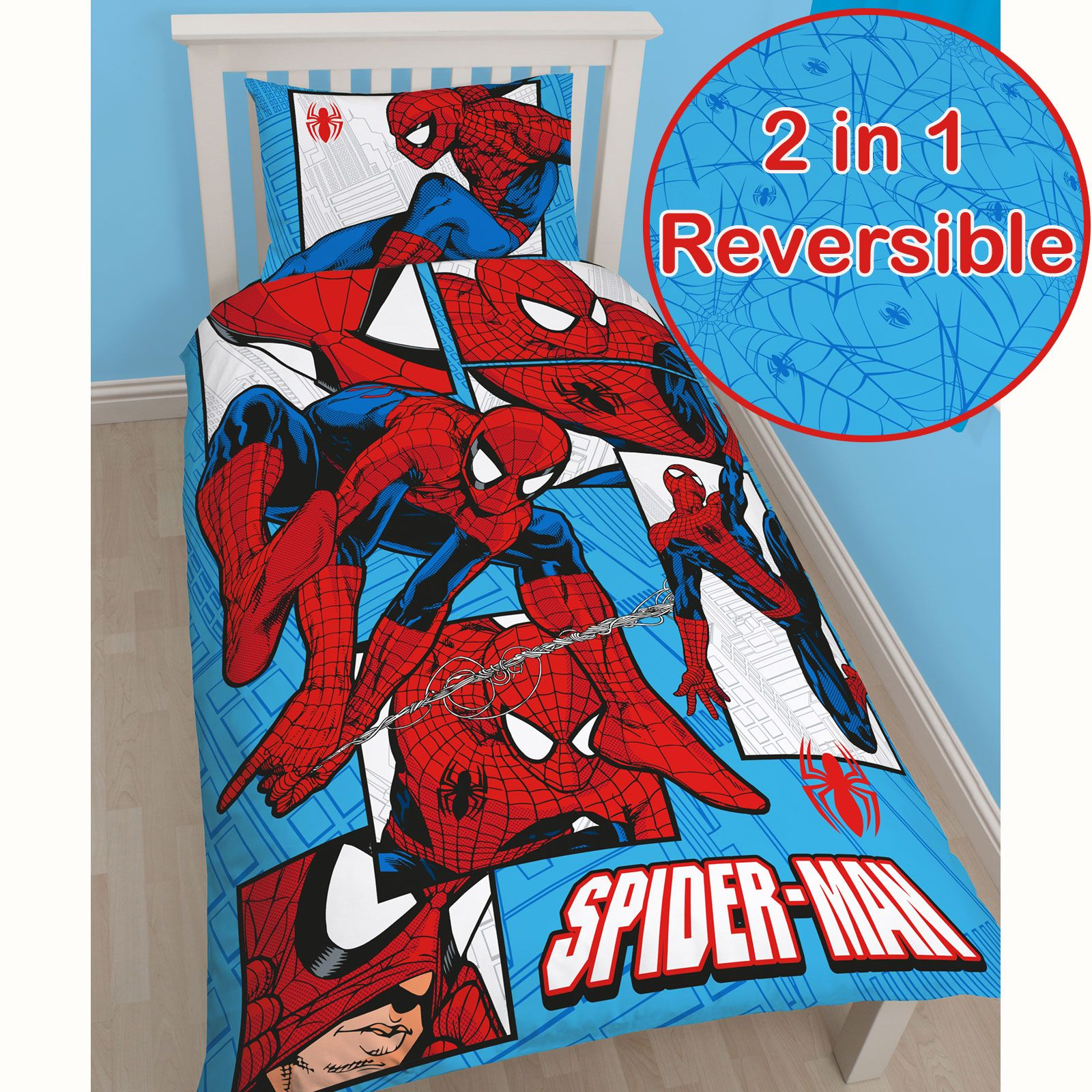 Spiderman parker bedroom range fleece blanket 54 72 - Letto di spiderman ...