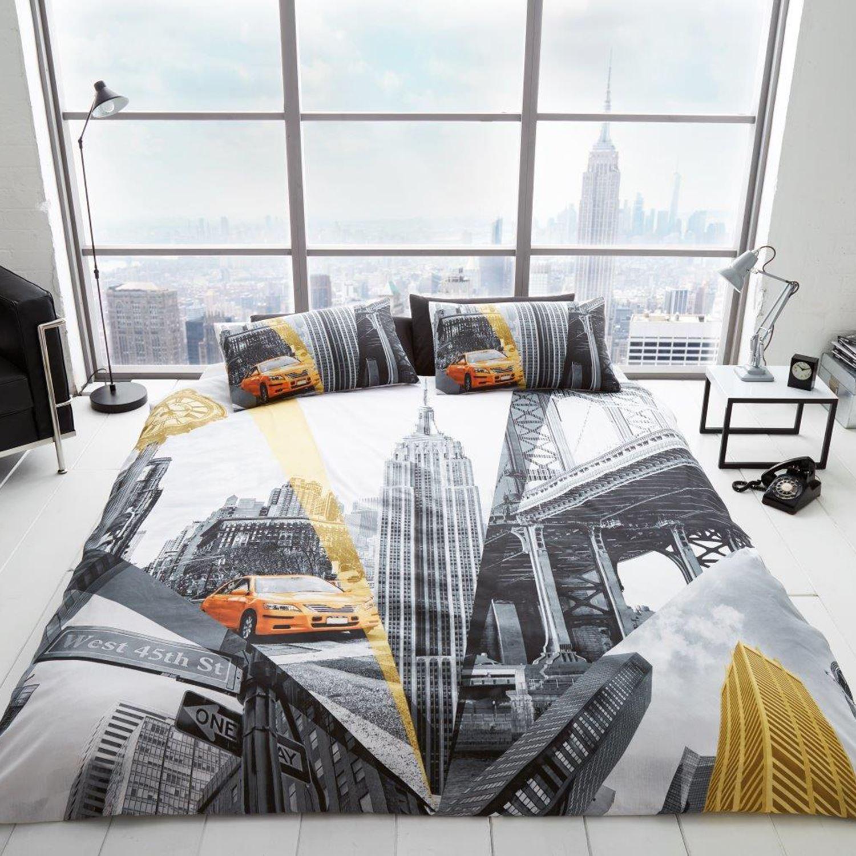 New York Skyline Bedding Double